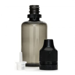 Bote 30ml PET con tapón negro