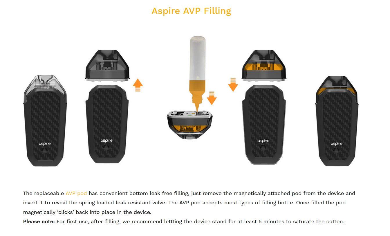 Sistema de Llenado del Pod AVP de Aspire