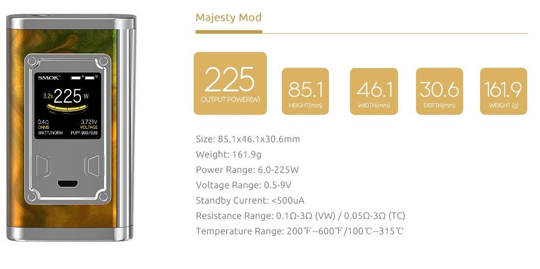 Majesty Resin Edition 225W - Smok